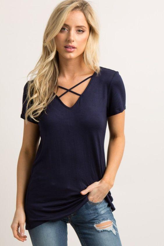 Женская футболка со шнуровкой фото