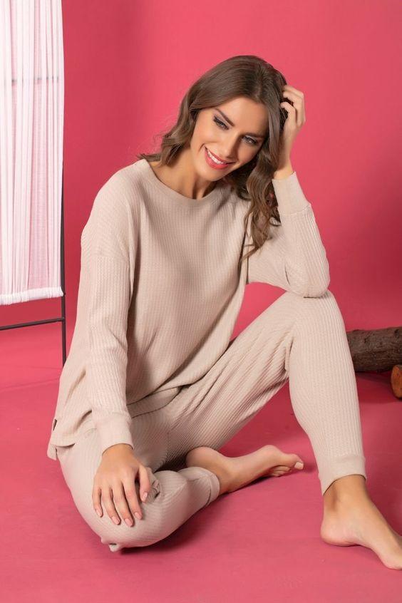 Зимняя пижама из теплых тканей фото