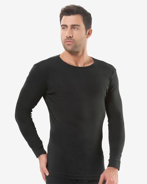 Черная мужская футболка с длинным рукавом фото