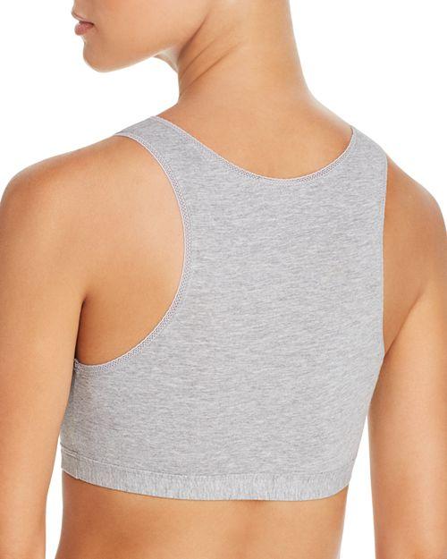 Серый бюстгальтер топ для поддержки груди во время сна фото
